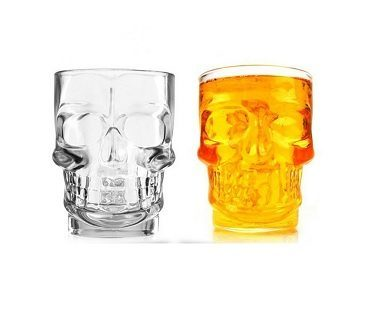 Glass Skull Cup