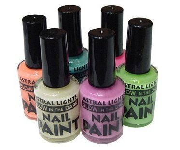 Glowing Nail Polishes