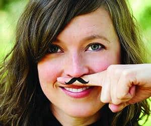 Fingerstache Temporary Tattoo