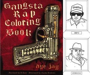 Gangsta Rap Colouring Book