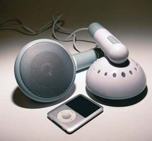 Giant Earphone Speakers
