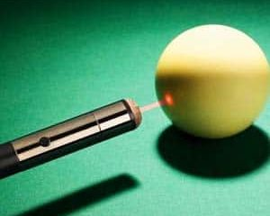 Laser Guided Pool Cue