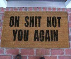Not You Again Doormat