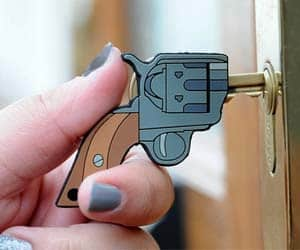 Pistol Shaped Key Cover