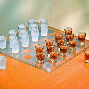 Shot Glass Checkers Drinking Game