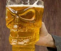 Skull Beer Pitcher