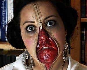 Zipper Face Costume