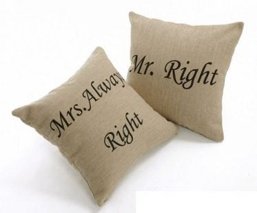His And Hers Cushion Cover