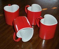 Heart Shaped Mugs