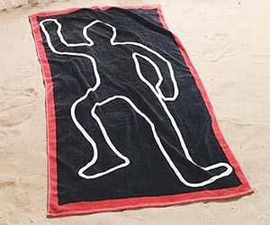 Crime Scene Beach Towel