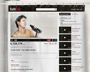 YouTube Video Shower Curtain