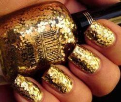 Gold Flakes Nail Polish