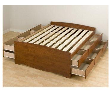 Double Platform Storage Bed
