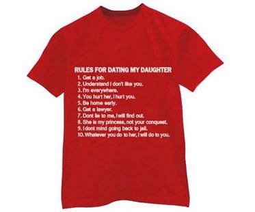 Rules for dating my daughter t shirt buy