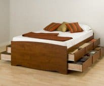 Double Platform Storage Bed