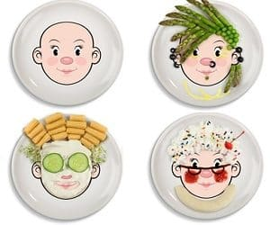Face Food Plates