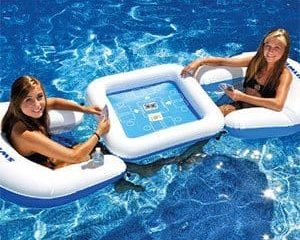 Inflatable card table