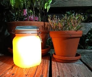 glowing jar
