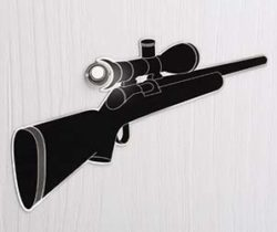 gun peephole decal