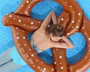 inflatable pretzel