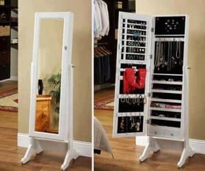jewelry storage mirror