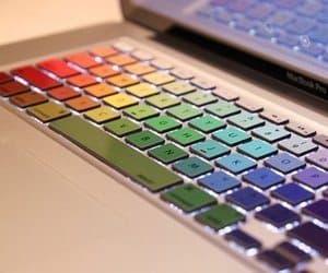 rainbow macbook decals