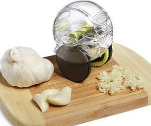 rolling garlic chopper