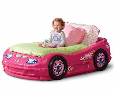 PINK-CAR-TODDLER-BED