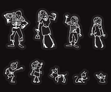 ZOMBIE-FAMILY-CAR-STICKERS