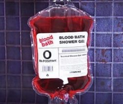blood bag shower gel