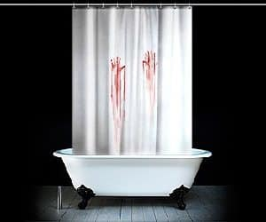 blood shower curtain