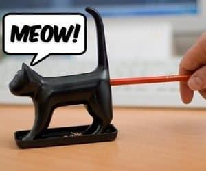 cat end pencil sharpener