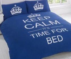 keep calm bedding set