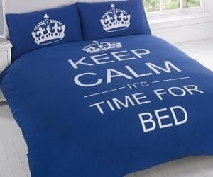 keep calm bedding set