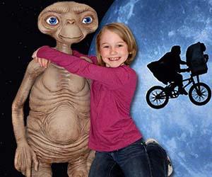 life-size ET replica