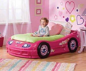 pink car toddler bed