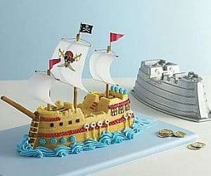 Sensational Pirate Ship Cake Pan Birthday Cards Printable Riciscafe Filternl