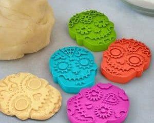 sugar skull cookie stamps
