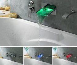 waterfall led bath faucet