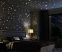 Glowing star decals