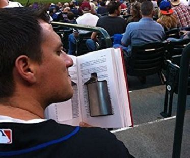 Hidden Flask Book Safe