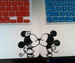 Mickey & Minnie kissing decals