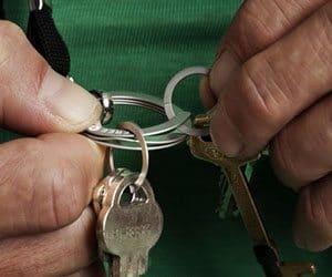 easy open key ring