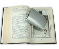 hidden flask book safe