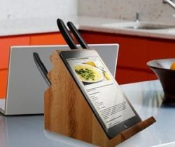 knife block tablet stand
