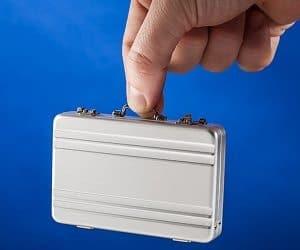 mini briefcase card holder