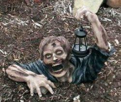 solar powered garden zombie