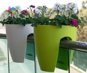 Railing plant pot