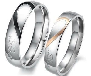 Heart Wedding Rings