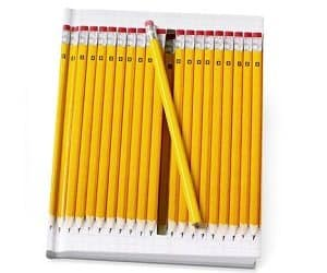 hidden pencil notebook